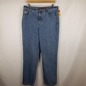Gloria Vanderbilt Amanda Straight Leg Jeans Sz 14